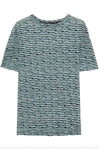 Printed Slub Cotton Jersey T-shirt