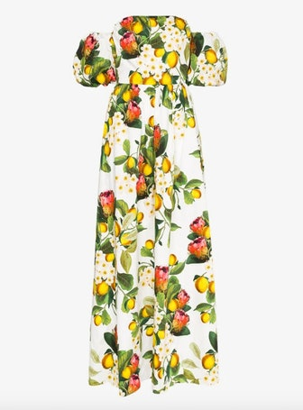 Juliette Floral Fruit Print Maxi Dress