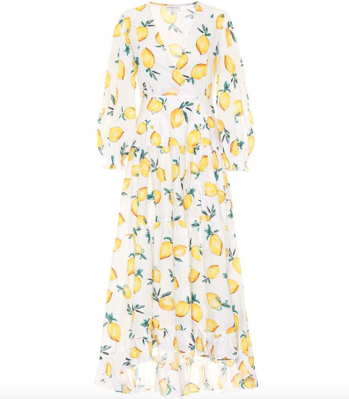 Maria Printed Cotton Maxi Dress