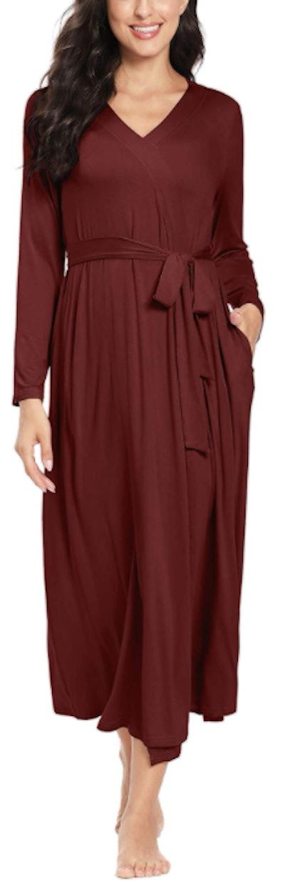 JK Unicorn Long Maternity Robe