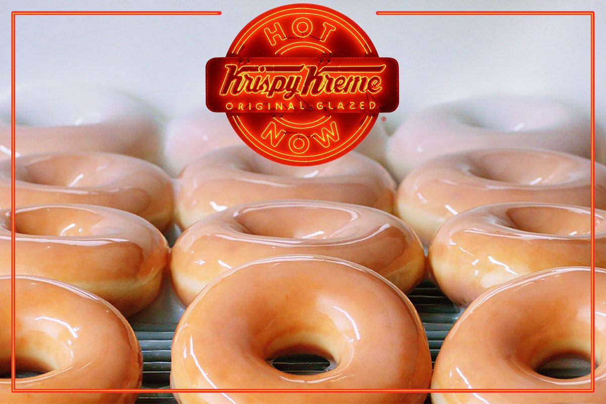 Krispy Kreme is selling original glazed dozens for $5 during its Hot Light hours promo.
