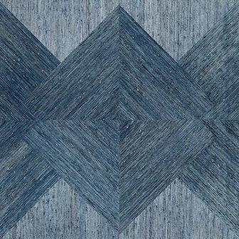 Arrowroot Inlay Denim Wallpaper