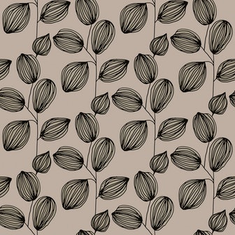 Cocoa Floral Removable Wallpaper
