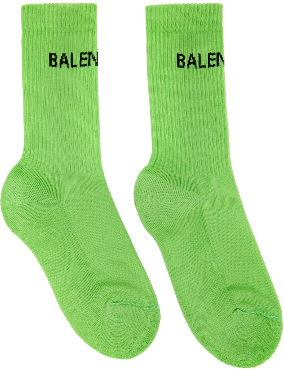 Green Logo Tennis Socks