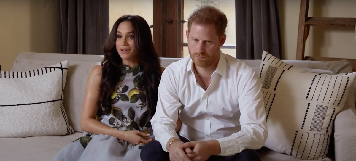 Meghan Markle and Prince Harry appear in Spotify's Stream On Event on Monday Feb. 22, 2020.