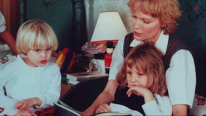 Mia, Dylan, and Ronan Farrow in 'Allen  v Farrow' via HBO press site.