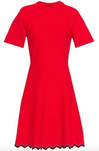 Stretch Knit Mini Dress