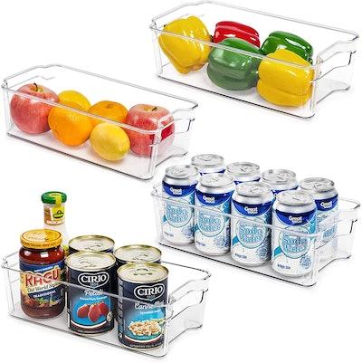 Vtopmart Refrigerator Storage Bins (4-Pack)