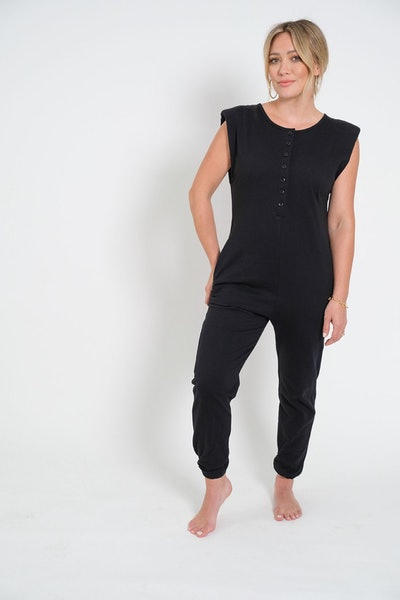 S+T x Hilary Duff - The S+T The Banks Romper in Midnight Black