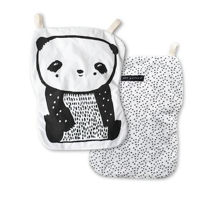 Wee Gallery Panda Crinkle Toy