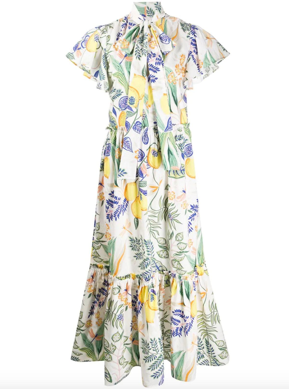Lou Lou Lemon Print Dress
