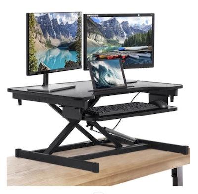 Adjustable Height Steel Standing Desk Converter