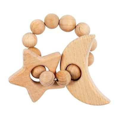 Bebe Au Lait Star & Moon Wooden Teether