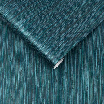Grasscloth Texture Teal Wallpaper