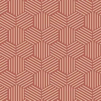 Terracotta Geometric Peel and Stick Wallpaper
