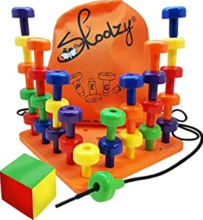 Skoolzy Preschool Peg Board Set