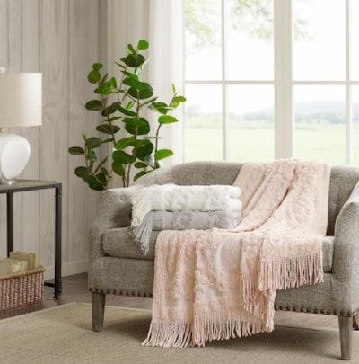 Mila 100 Percent Cotton Tufted Throw Blanket