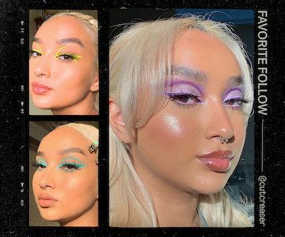 Instagram user Cutcreaser poses for multiple selfies in makeup