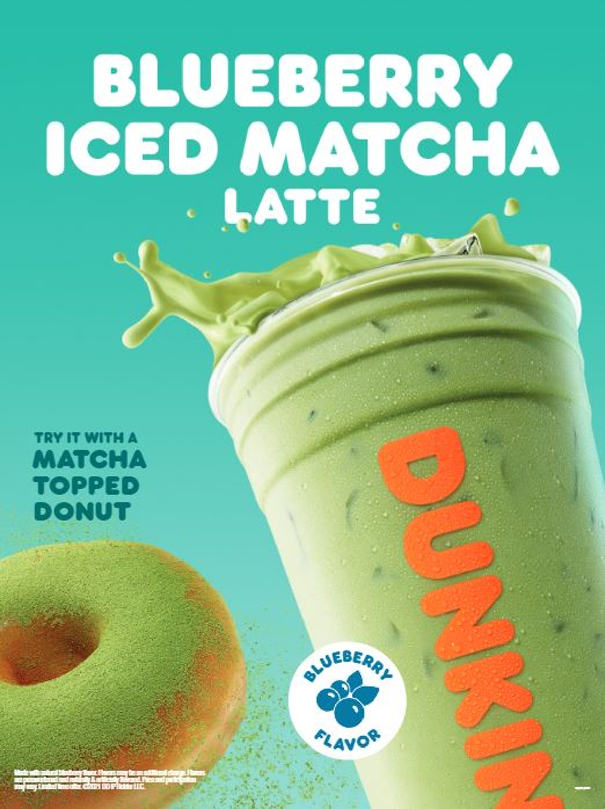 Here's how much caffeine is in Dunkin's Blueberry Matcha Latte.