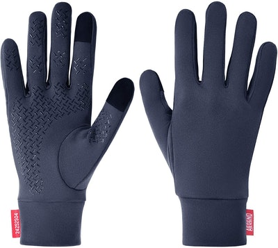 Aegend Glove Liners with Grippy Palms