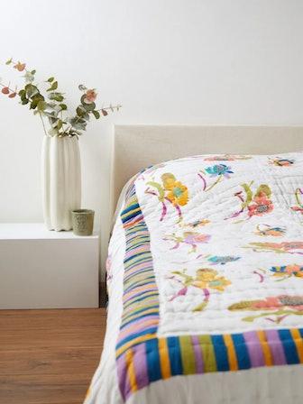 Floral-Print Cotton Quilt