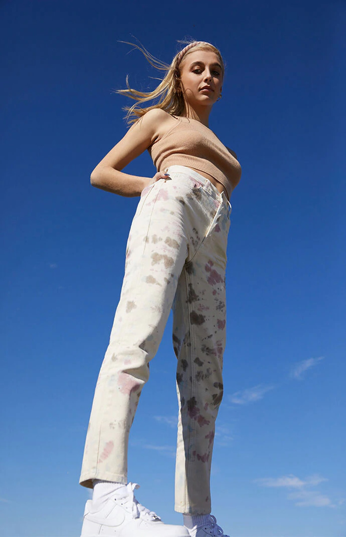 PacSun Tie Dye Ultra High Waisted Slim Fit Jeans