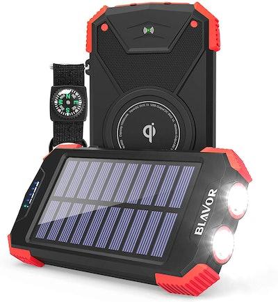 BLAVOR Solar Qi 10000mAh Power Bank