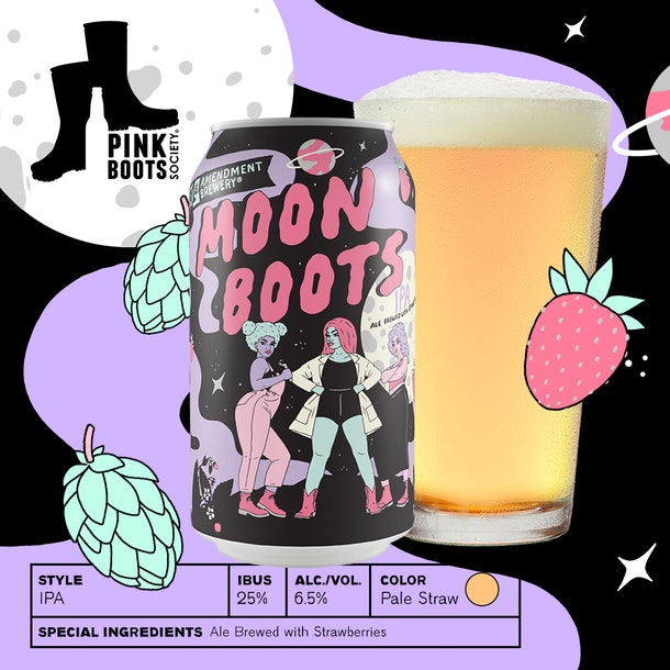 21st Amendment's Moon Boots IPA coming in April 2021 is a women-created brew.