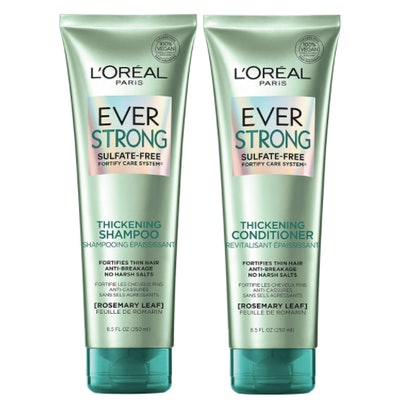 L'Oréal EverStrong Sulfate-Free Thickening Shampoo and Conditioner