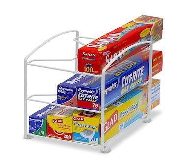 SimpleHouseware Kitchen Wrap Organizer Rack