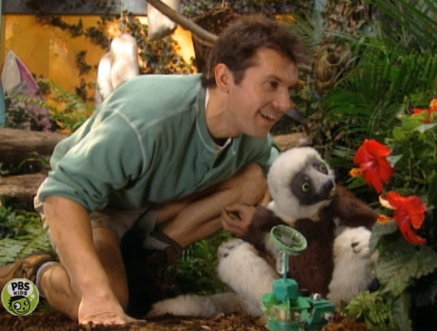 'Zoboomafoo' stars Chris and Martin Kratt and their puppet friend, Zoboomafoo the lemur.
