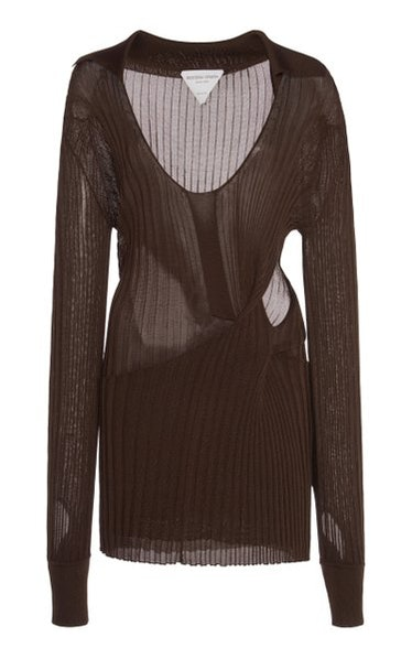 Cutout Ribbed Sweater