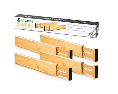 Utoplik Bamboo Kitchen Drawer Dividers