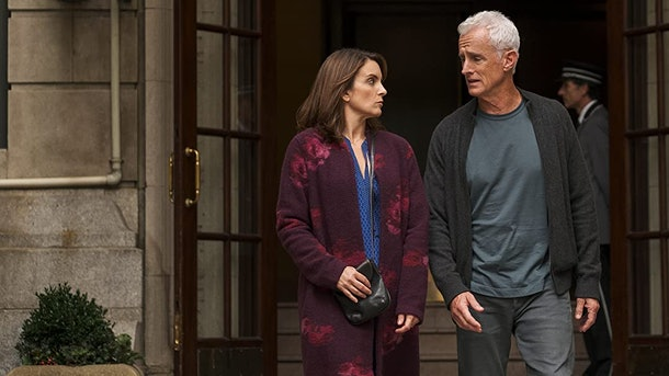 Tinan Fey and John Slattery in Modern Love.