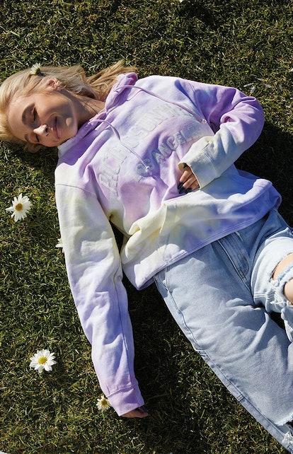 PS / LA Pacific Sunwear Spiral Tie Dye Hoodie