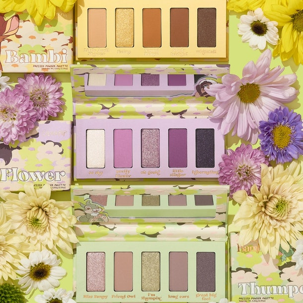 """The Bambi, Flower, and Thumper palettes from the Disney """"Bambi"""" x ColourPop collection."""