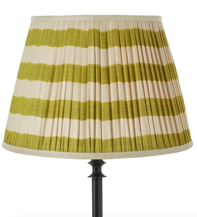 Warna Silk Pleated Lampshade - Lime