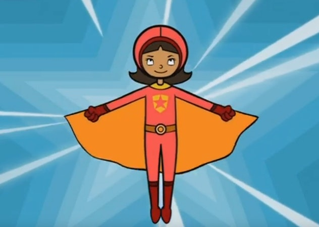 'WordGirl' is an educational show meant to help kids improve their vocabulary.