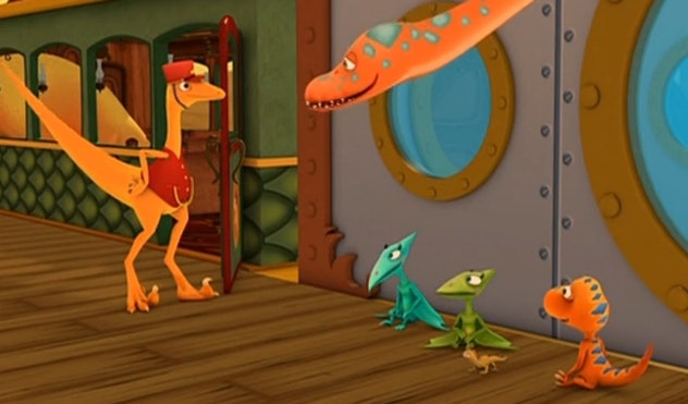 'Dinosaur Train' takes young learners back in time to learn about the different species of dinosaurs on a magic train.