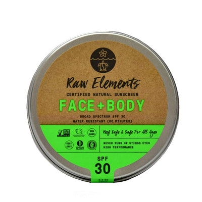 Raw Elements Face and Body Certified Natural Sunscreen, 3 Oz.