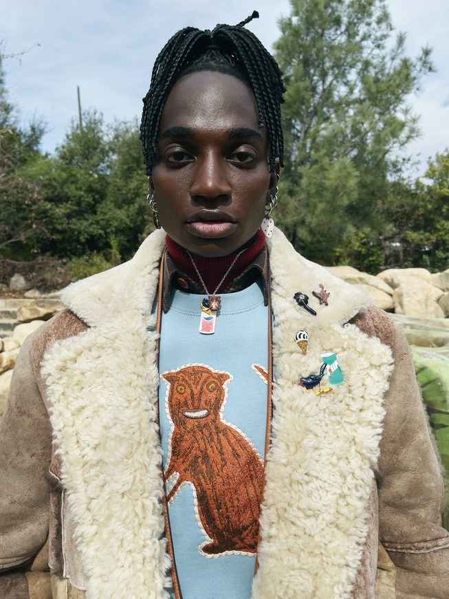 Rickey Thompson for Coach's Fall 2021 collection.