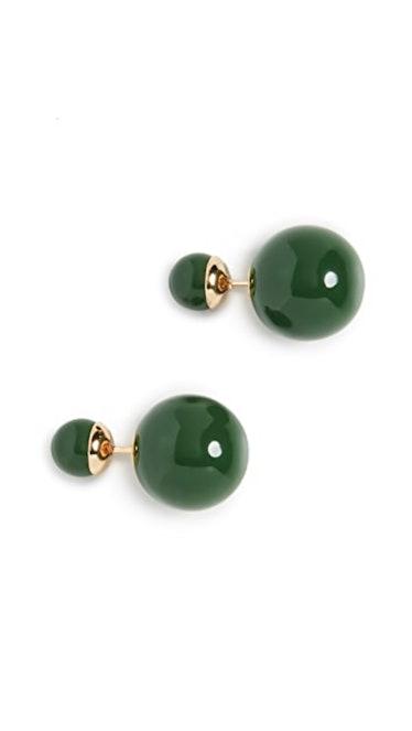 Verde Double Ball Earrings