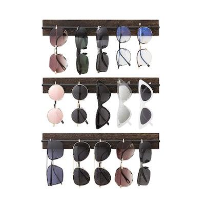 Mkono Wood Sunglasses Storage Organizer