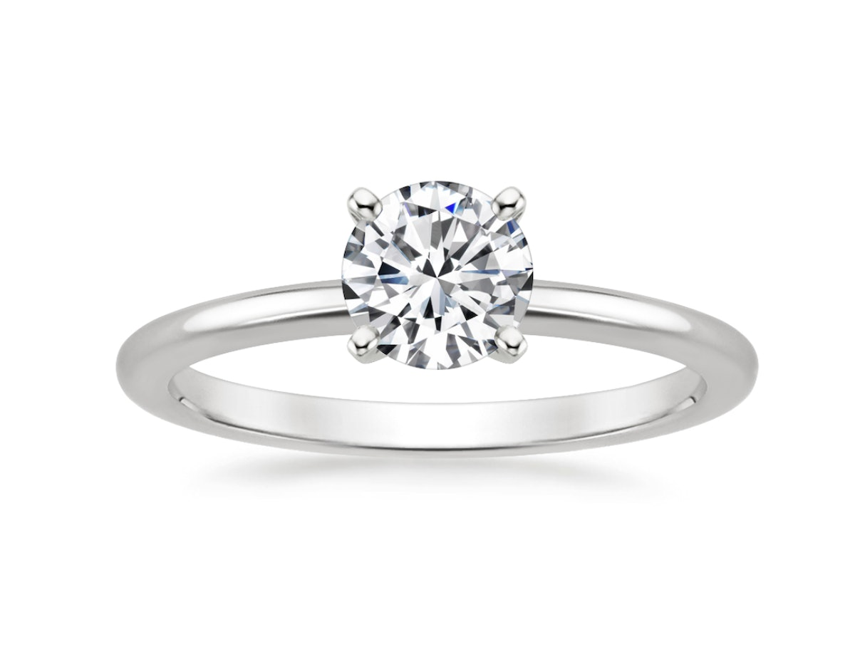 Four-Prong Petite Comfort Fit Engagement Ring