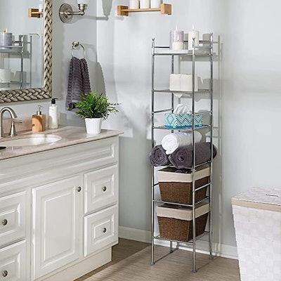 Honey-Can-Do Metal Tower Bathroom Shelf