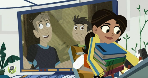 'Wild Kratts' is a cartoon that follows the Kratt Brothers and their team on their quest to help animals around the world.