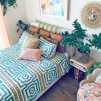 Sky Blue Hypnotic Quilt Set by Justina Blakeney