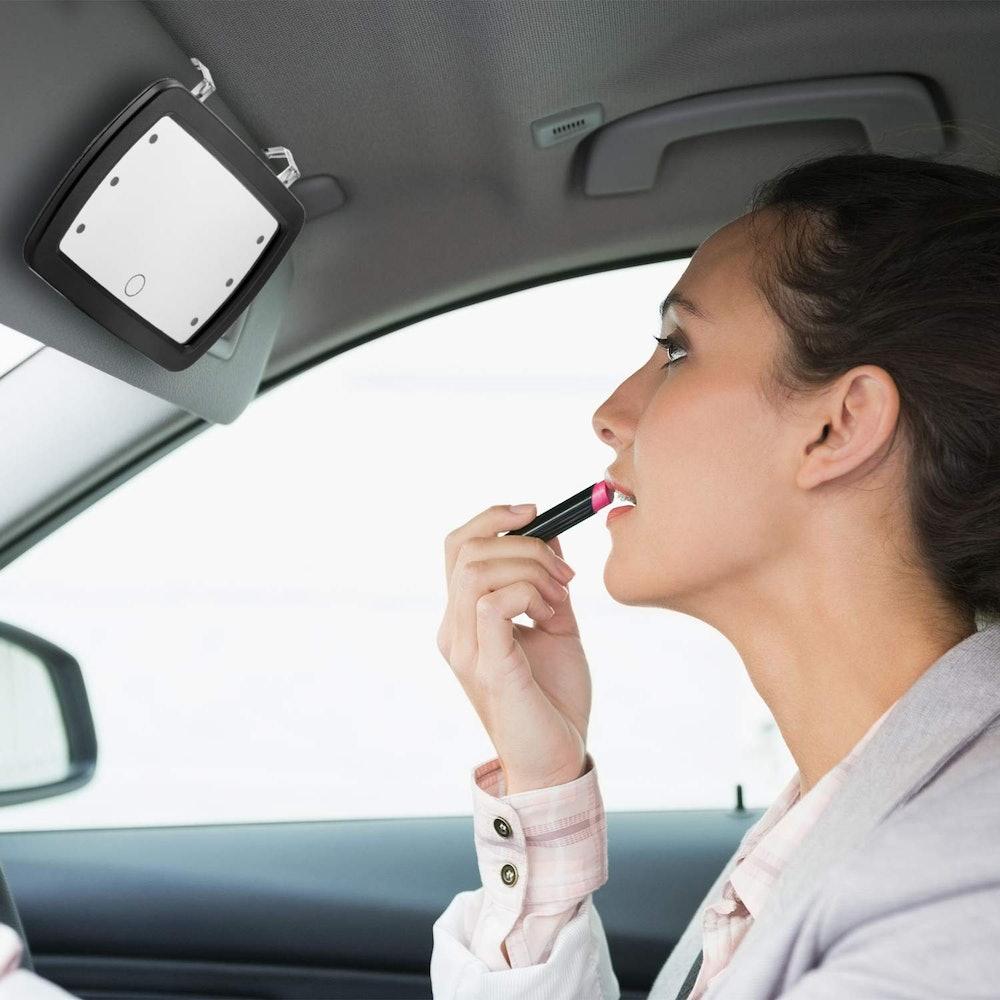 Jetec Car Visor LED Makeup Mirror