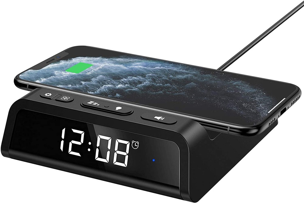 Seneo Alarm Clock with Wireless Charging Pad