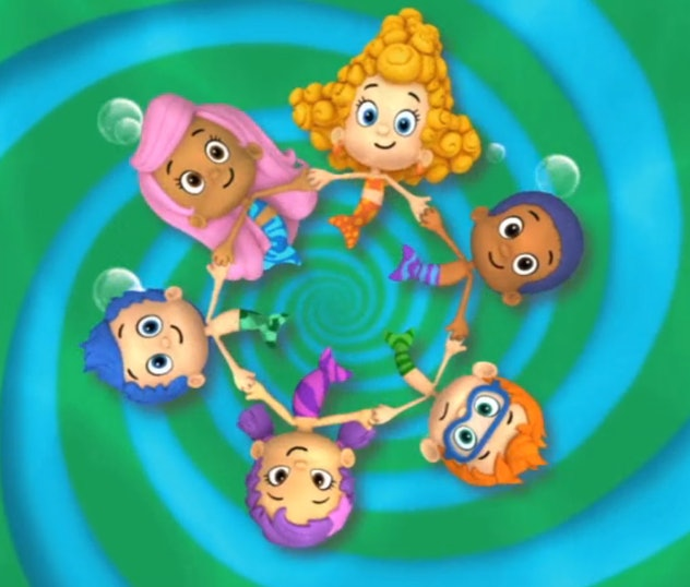 'Bubble Guppies' is a cartoon about pre-schoolers under the sea.